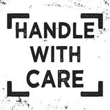 Handle with care stamp Stock Photography