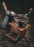 Handle coffee mill Stock Image