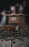 Handle coffee mill Stock Photos