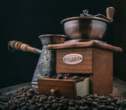 Handle coffee mill Stock Images