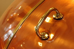 Handle copper detail Stock Photo