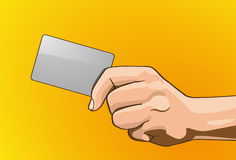 Handle Credit Cards Royalty Free Stock Images