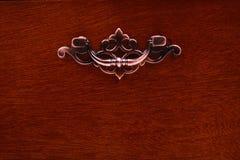 Handle dark wooden Royalty Free Stock Photo