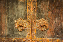 Handle of door china style Royalty Free Stock Images