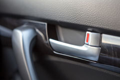 Handle door opener in the car Royalty Free Stock Image