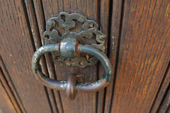 Handle door rusty iron ring Stock Images