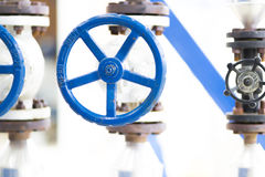 Handle Gate Valve on the Pipeline Royalty Free Stock Photo