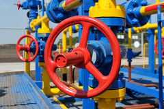 Handle gate valve with steel pipe Royalty Free Stock Image