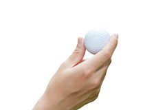 Handle golf balls royalty free stock images