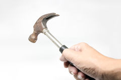 Handle Hammers white isolate Background Royalty Free Stock Image