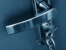 Handle and key Royalty Free Stock Photo