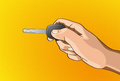 Handle key lock. Vector illustration - Beautiful key lock in hands outline version. Created with adobe illustrator. key lock, background, are Created separately Stock Images