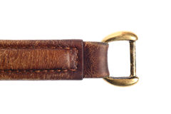 Handle of a leather isolated Stock Photography