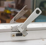 Handle locks. Handle locks for window glass Royalty Free Stock Image