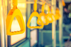 Handle loop in sky train . Royalty Free Stock Photography