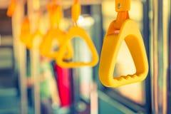 Handle loop in sky train . Stock Photos