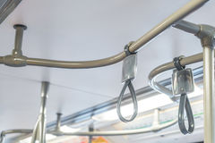 Handle loop in sky train . Stock Photo