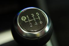 Handle a manual transmission Royalty Free Stock Images