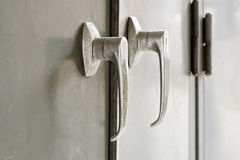 Handle of metal file cabinet Royalty Free Stock Image