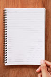 Handle notepad with a spiral binding Royalty Free Stock Photography