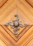 Handle. Old. Metal. Door. Wooden stock image