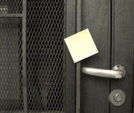 Handle and post-it Stock Images