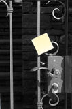 Handle and post-it Royalty Free Stock Photo