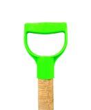 Handle of a shovel. Isolated on white background Stock Photos
