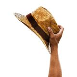 Handle Straw Hat Royalty Free Stock Images
