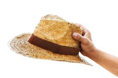 Handle Straw Hat Stock Photo