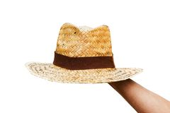 Handle Straw Hat Stock Image