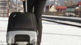 Handle Suitcase stock footage