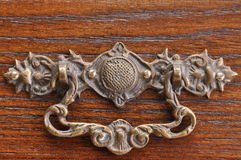 Handle to the old drawer Royalty Free Stock Photo