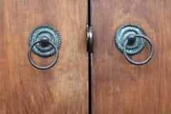 handle of wood door Royalty Free Stock Photos