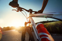 Handlebar of a bicycle Royalty Free Stock Image