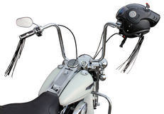 Handlebar and Helmet Stock Images