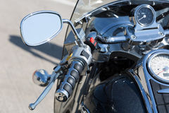 Handlebar of a motorcycle Royalty Free Stock Photos