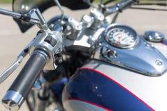 Handlebar of a motorcycle Stock Photos