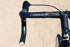 Handlebar from road bike Stock Photos