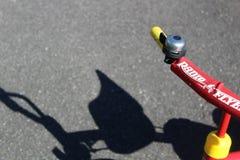 Handlebars трицикла летчика радио с колоколом стоковая фотография rf