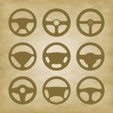 Handlebars automotive icons  Steering Wheel Royalty Free Stock Image