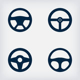 Handlebars automotive icons  Steering Wheel Royalty Free Stock Images