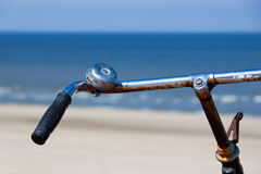 The handlebars of a bike Stock Images