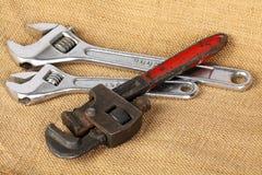 Handled plumbers Stock Image