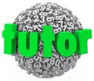 Handleda den privata kursen för Number Ball Sphere utbildning som lär Arkivfoto