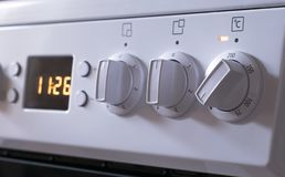 Handles of adjustment of power of heating of the electric stove royalty free stock photography