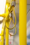 Handles in electric train Royalty Free Stock Photos