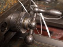 Handles old lathe Royalty Free Stock Images