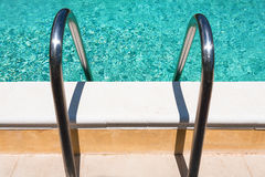 Handles of outdoor swimming pool Stock Photo