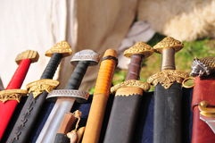 Handles of swords Royalty Free Stock Photo